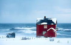 Det røde huset ved havet