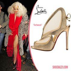 Rita Ora and Christian Louboutin shoes.