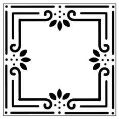Reusable Laser-Cut Coaster or Trivet Tile Stencil American Classic Stencil Art, Stencil Designs, Stenciling, Cake Stencil, Coaster Furniture, Diy Furniture Projects, Custom Pillows, Custom Fabric, Wood Burning Tool