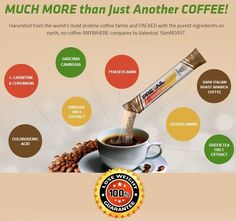 All natural ingredients, this coffee tastes great and helps you lose weight! Non GMO and Kosher.