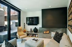 """Architecture and interior design firm Studio B designed ZincHouse, a contemporary residence located in Aspen, Colorado and completed in """"A constrained property, a complex history and a one-st… Residential House, House, Interior, Home, Colorado Homes, Aspen House, Residential Design, House Interior, Interior Design"""