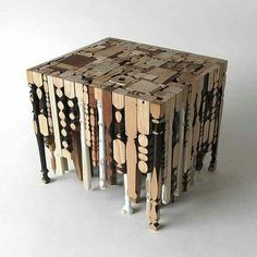 UPcycled chair and furniture legs. Unique!!