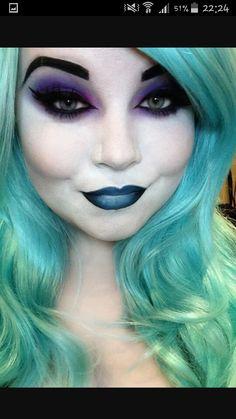 Female hades makeup, I just love the beautiful purple eyeshadow.                                                                                                                                                                                 More
