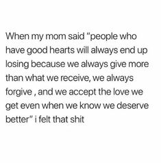 Amen... People with good hearts