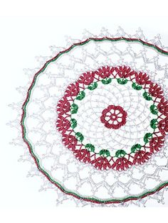 Summer Lace Doilies: Pink & Green Doily 1.65 mm hook