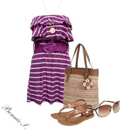 """""""casual summer dress"""" by bonnaroosky on Polyvore"""