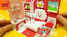 let's make miniature dollhouse - BTS & Alpaca RJ room! Clay Crafts, Crafts To Make, Army Room Decor, Bomb Making, Alpaca, Miniature Rooms, Homemade Crafts, Dollhouse Miniatures, Diy Dollhouse