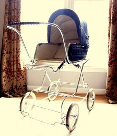 Items similar to Victorian style Perambulator Steampunk Baby Carriage or Vintage Stroller on Etsy Vintage Stroller, Vintage Pram, Silver Cross Prams, Prams And Pushchairs, Dolls Prams, Baby Buggy, Baby Prams, Baby Bonnets, Baby Carriage