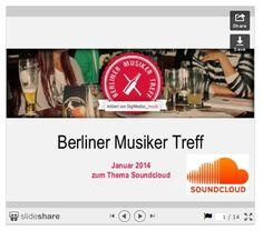 "Beim Berliner Musiker Treff am 06. Januar 2014 wurde ausführlich über ""SoundCloud"" diskutiert. Hier gibt es die Punkte zusammengefasst: http://www.blog.digimedial.de/soundcloud-musikplattform/"