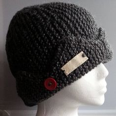 7c8708e8e4b Jughead Jones Beanie Crown Riverdale Handknit Beanie Style Jughead Hat Grey  Teen to Adult Red Button