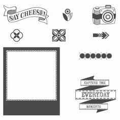 Say Cheese Wood-mount Stamp Set by Stampin' Up!