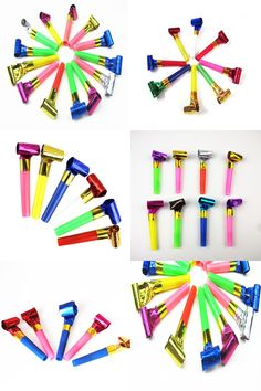 [Visit to Buy] 5PCS Small Multi Color Party Blowouts Whistles Kids Birthday Party Favors Decoration Supplies Noisemaker Toys CT0046  #Advertisement