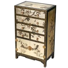 New Chinese Black Bedside Table Hand Painted Flowers And Birds Bc M12b Fl Our Bedroom Makeover Pinterest Bedrooms