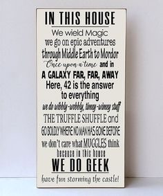 This 'We Do Geek' Wall Sign is perfect! #zulilyfinds