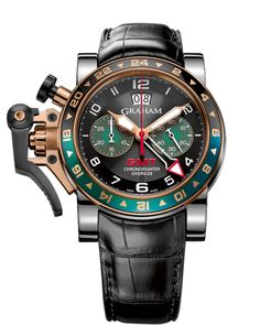 2OVGG.B16A « Oversize GMT steel & gold / gold « Chronofighter « Collection - Graham London #Watches #GrahamLondon #AttilaMéxico