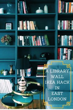 Library Wall Ikea Hack With Billy Bookcase