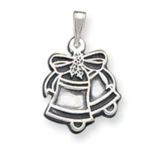 Sterling Silver Antiqued Bells Charm goldia. $15.74