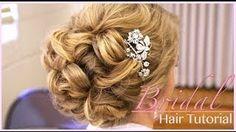 tutorial wedding bride vintage hair - YouTube