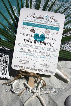 Wedding Program Fans by InspirationsbyAmieLe on Etsy, $50.00