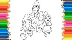 Sherlock Gnomes 2018 Drawing  Gnomeo, Sherlock Gnomes and Juliet Colorin...