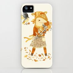 Dakota the Daisy Deer iPhone Case by Teagan White - $35.00