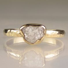 Rough Cut Diamond Ring - so unique. I love this.