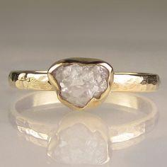 Rough Cut Diamond Ring - so unique. I love this.