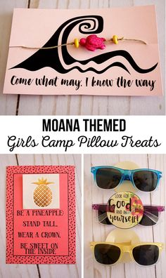 Moana Themed Girls Camp Pillow Treats