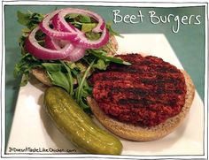 Beet Burgers! Veggie burgers that are vegan, gluten free, dairy free, egg free, and delicious!
