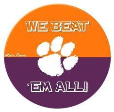 Clemson Football Game, Football Love, Clemson Tigers, Orange And Purple, University, Tiger Art, Blue Ridge, Awesome Stuff, South Carolina