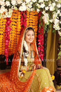 Bridal Mehndi Dresses, Wedding Dresses, Sajjal Ali, Haldi Ceremony, Ceremony Dresses, Pakistani Actress, Mother And Father, Muslim Fashion, Wedding Wear