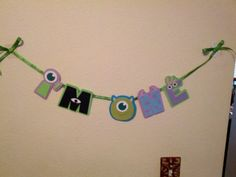 Monster's Inc I'm One banner by PurplePaperCrafts on Etsy