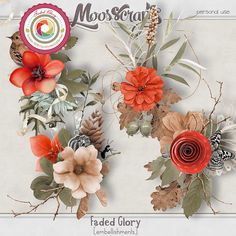 Faded Glory - embellishements by Mosscrap's Designs