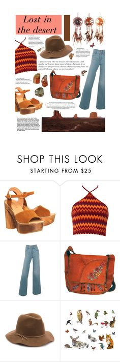 """Lost In the Desert"" by styledbychristinak ❤ liked on Polyvore featuring Office, Motel, Del Forte, Nine West, DOMESTIC and vintage"