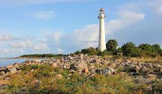Kihnu Lighthouse (Estonian: Kihnu Tuletorn) is a lighthouse located in Kihnu, an island in the northern Gulf of Riga in Pärnu County; in Estonia.    The lighth... Get more information about the Kihnu Lighthouse on Hostelman.com #attraction #Estonia #landmark #travel #destinations #tips #packing #ideas #budget #trips #lighthouse