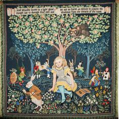 Elizabeth Creeden Alice in Wonderland tapestry - embroidered in silk on wool. Lovely!!