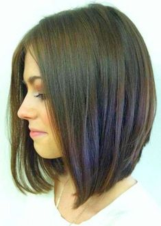 Medium Bob Hairstyles Best Midlength Bob With Long Layers And Slight Face Frame  Bangs