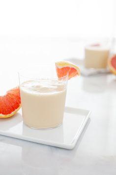 Mango, Banana and Grapefruit Smoothie | BourbonandHoney.com