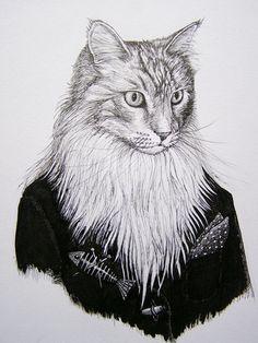 Rory Dobner    The imaginative mind behind fantastical ink portraits ~ Rory Dobner
