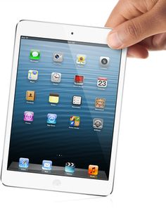 Apple announced the iPad mini today. It could suit those who don't own an iPad or wanted something smaller. Maybe even those who want an iOS-based tablet, but felt the iPad was a bit too big. Mini Apple, Apple Mac, Smartwatch, Samsung, Tim Cook, Appel Video, Cool Tech Gifts, Ipad Mini 2, Retina Display