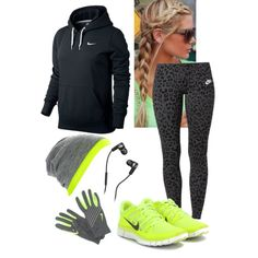Winter running gear....except for the shoes....I'll never run in Nike shoes