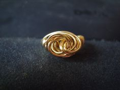 Celtic Knot wire-wrapped ring...front view
