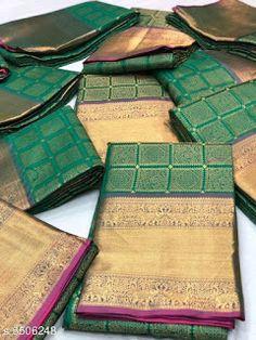 Silk Saree Kanchipuram, Banarasi Sarees, Silk Sarees, Designer Blouse Patterns, Blouse Designs, Cod, Picnic Blanket, Fabric, Free
