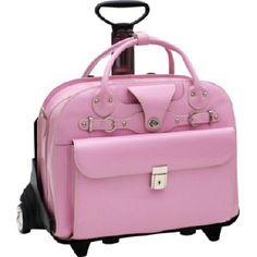 McKlein Roseville Roller Briefcase in Pink.