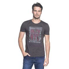 Camiseta BKLYN Grafite - luigibertolli