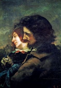 Gustave Courbet (French artist, 1819-1877). The Happy Lovers 1844