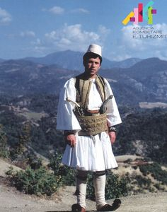 Albanian man's costume from Gramsh.