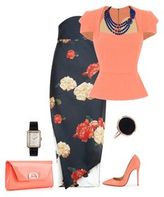 outfit 3899 by natalyag on Polyvore featuring polyvore fashion style Roland Mouret A.W.A.K.E. Christian Louboutin Chanel Ginette NY clothing