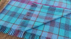 Welsh Woollen Blanket - Coral