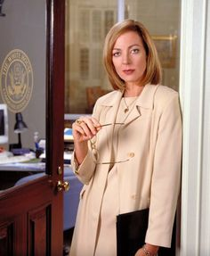 "Allison Janney as Claudia Jean ""CJ"" Cregg in The West Wing"